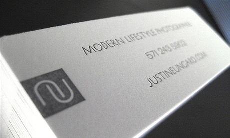 letterpress,one color business card