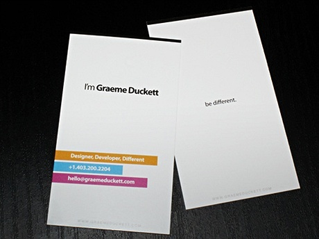 multi color business card