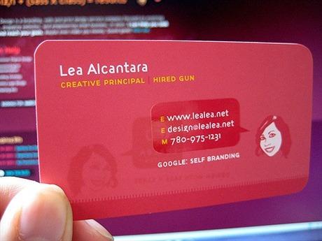 Lea Alcantara business card