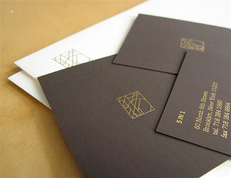 earthy surface,foil stamped business card