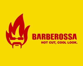 face,fire,fancy logo