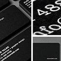 Black Rounde Corner Card