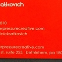Peer Pressure Business Card