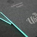 Edge Painted Letterpress Card