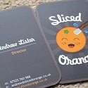 Sliced Orange Round Corner Card