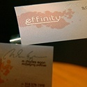 Effinity - Metallic Ink Card
