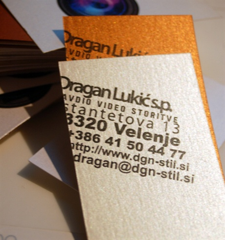 Photographer Lens Design business card