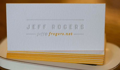 Edge Painted Letterpress business card