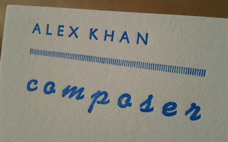 Hand Printed Letterpress business card