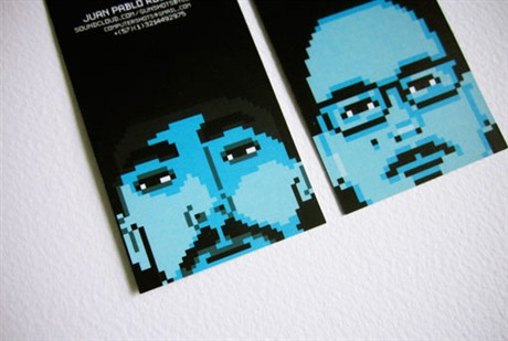 Pixel Art Cards business card