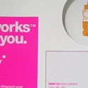 Bright Pink Business Cards
