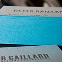French Blue Letterpress Cards