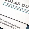 White Letterpress Cards