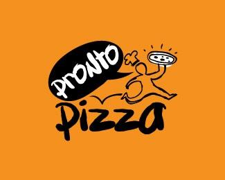 jump,orange,run,cook,italian food logo