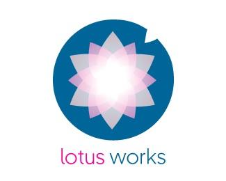 flower,leaf,round,lily,lotus logo