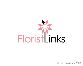 arrow,flower,ames,jerron logo