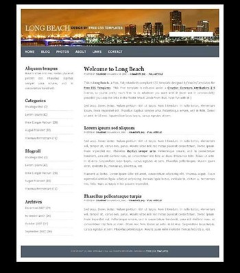 city,life website template