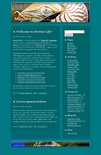 creatures,fish,marine,sea website template