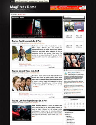 ads ready,footer columns,internet wordpress theme