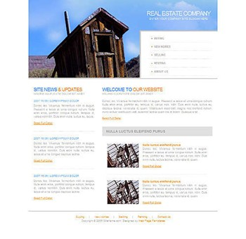 cabin website template